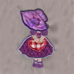 Sun Bonnet Applique embroidery design