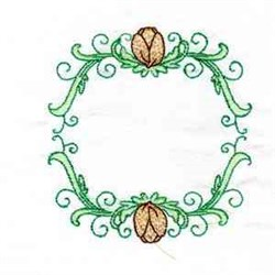 Tulip Circle Frame embroidery design