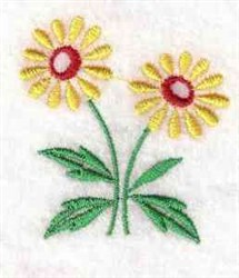 Two Daisies embroidery design
