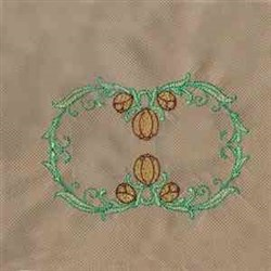 Tulip Frame Circle embroidery design