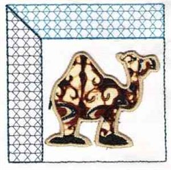 Camel Quilt Block embroidery design