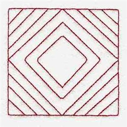 RW Diamond Block embroidery design