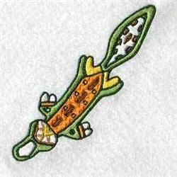 Aussie Crocodile embroidery design