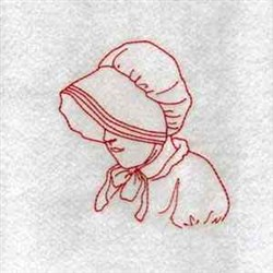 RW Lady In Bonnet embroidery design
