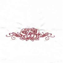 Two Redwork Roses embroidery design