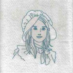 RW Girl In Sunbonnet embroidery design