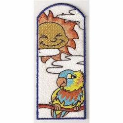 Sunny Parrot Bookmark embroidery design