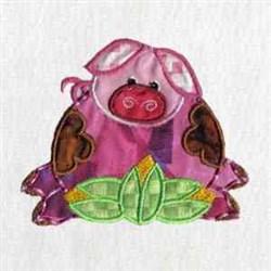 Applique Piglet embroidery design