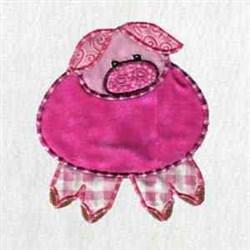 Applique Hog embroidery design