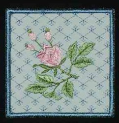 Rose Box Bottom embroidery design