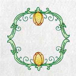 Tulip Frame embroidery design
