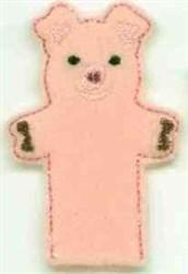 Pig Finger Puppet embroidery design