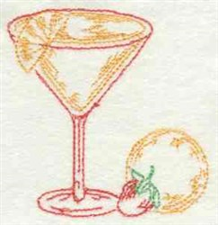 Tropical Drink Outline embroidery design