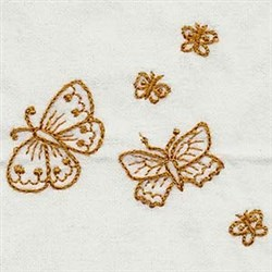 RW Butterflies embroidery design