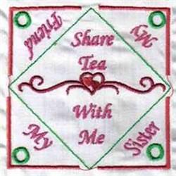 Sister Teabag Holder embroidery design