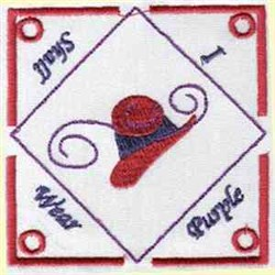 Redhat Teabag Holder embroidery design