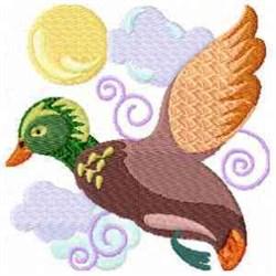 Duck & Sun embroidery design