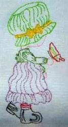 08 Sunbonnet_Color embroidery design