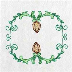 Dutch Tulip Frame embroidery design