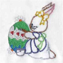 RW Easter Bunny embroidery design