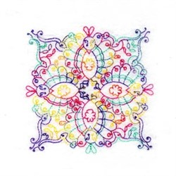 Paisley Quilt Block embroidery design