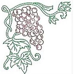 Grape Corner embroidery design