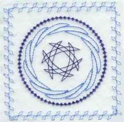 Nouveau Quilt Square embroidery design