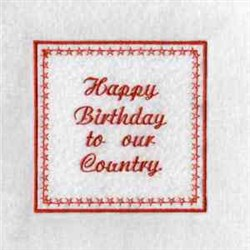 4th Of July Photo Cube embroidery design