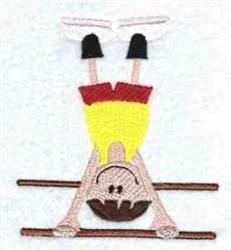 Boy Gymnast embroidery design