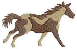 Horse Mustang embroidery design