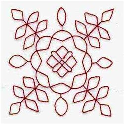 Trupunto Block embroidery design