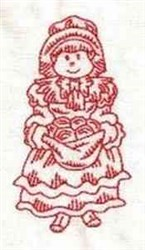 RW Pilgrim Girl embroidery design