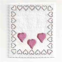 Heart Bag Topper embroidery design