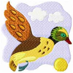 Flying Jacoben Duck embroidery design