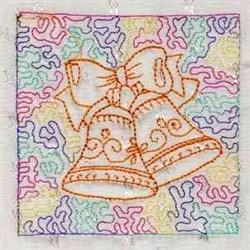 trapunxmasbl_010 embroidery design
