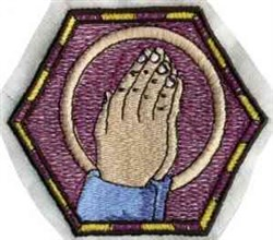 Praying Hands Bowl embroidery design