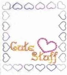 Cute Stuff embroidery design