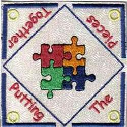 Puzzle Teabag Holder embroidery design