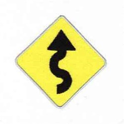 Curved Road embroidery design