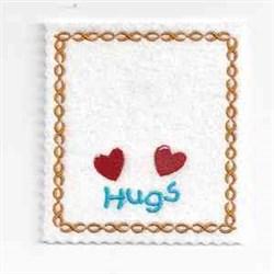 Hugs Bag Topper embroidery design
