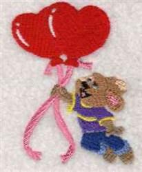 Valentine Bunny embroidery design