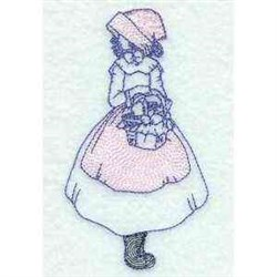 Pilgrim Girl embroidery design