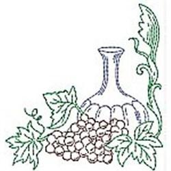 RW Wine Bottle embroidery design
