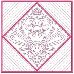 RW Quilt Block embroidery design