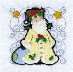 Swirly Santa embroidery design