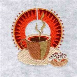 Coffee & Doughnut embroidery design