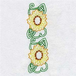 Twin Sunflowers embroidery design