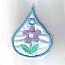 Floral Umbrella Drop embroidery design