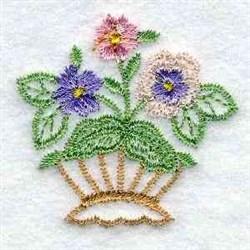 Flower Handbasket embroidery design