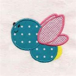 Applique Cartoon Bee embroidery design